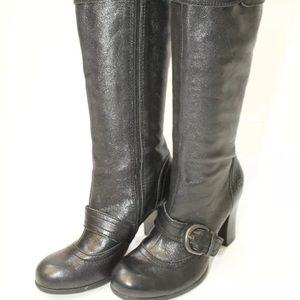 Born Alika Leather Tall Zip Heels